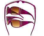 Vertx Purple Camo Sunglasses Rhinestone