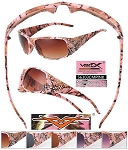 VERTX CAMO Ladies Frame Sunglasses LIGHT PINK CAMO
