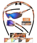VERTX CAMO Soft Frame ORANGE CAMO Sunglasses Assorted Dozen
