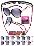 CAMO Ladies Sunglasses Black Frame Mix Friends Pack of 12