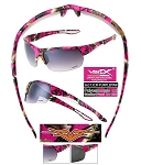 Wholesale Vertx Ladies PURPLE/PINK Camo Sunglasses 12CT