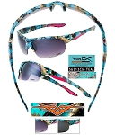 Wholesale Vertx Ladies TEAL Camo Sunglasses 12CT