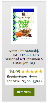 nut'n but natural pumpkin and oats