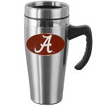 Wholesale Officially Licensed Collegiate Stainless Steel Team Travel Mug w/ Handle