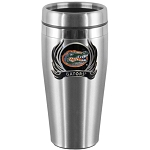 Wholesale Officially Licensed Collegiate Stainless Steel Travel Mug with FLAME Logo