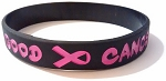 Life Good Cancer Bad™ Hot Pink & Black Awareness Bracelet