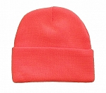 Wholesale Beanie Knit Cap, Blaze Orange Color