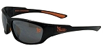 Officially Licensed Buck Commander Black Full Frame Sunglasses with Orange Accents