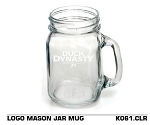 Wholesale Official Licensed Duck Dynasty LOGO MASON JAR MUG