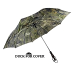 Duck for Cover Decorative Duck Call Handle Umbrella with REEDS-n-WEEDS CAMO