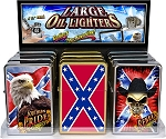 Confederate Rebel Southern Pride Large Oil Lighter 12CT Display