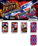 Confederate Rebel Southern Pride Oil Lighter 18CT Display