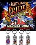 Confederate Rebel Southern Pride Pill Fob 25CT Display