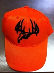 Longleaf Solid back Orange Cap, Black logo
