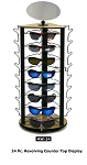 Sunglass Revolving Spinner Rack Metal/Wood Counter Display holds 24 pair