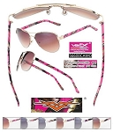 VERTX CAMO Sports Ladies Slanted Frame Sunglasses Pink CAMO 1/12CT