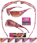 VERTX CAMO Ladies Frame Sunglasses HOT PINK CAMO 1/12CT