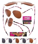 VERTX Polarized Pink Camo Ladies PILOT Sunglasses Friends Pack of 12
