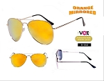 VOX Fashion Orange Mirrored Sunglasses