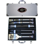 Wholesale Official Licensed Collegiate 8 PC Stainless Steel BBQ Set w/Case
