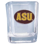 Wholesale Officially Licensed Collegiate COLLECTOR'S SQUARE 2OZ. GLASS 1/12CT