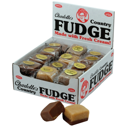 CHARLOTTE'S COUNTRY FUDGE 1.25 OZ. 24CT DISPLAY