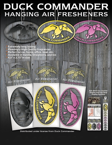 Duck Commander Assorted Air Fresheners (Vanilla, Strawberry & Ice) Minimum 12