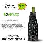 KOVERUPZ  HOBO-CHIC BAG INSULATED WINE BOTTLE COOLER BANDANNA DESIGN