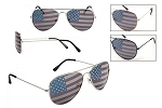 Pilot USA Flag Sunglasses UV400 Friends Pack of 12