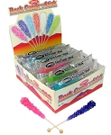 Old Fashioned Rock Candy Crystals on a Stick 7 Assorted Flavors 36CT