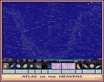 Original Atlas of the Heavens Sky-Map Astronomy Poster