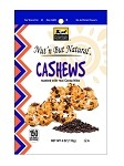 Nut'n But Natural® CASHEWS Roasted w/Real Cocoa Nibs 4oz. Bag