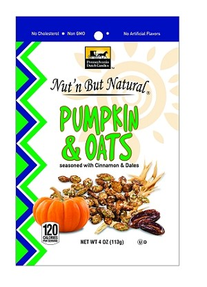 Nut'n But Natural ® PUMPKIN & OATS Seasoned w/Cinnamon & Dates 4oz. Bag