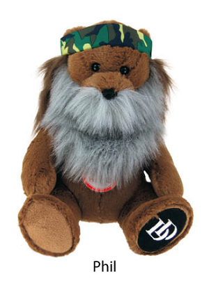 "Official License Duck Dynasty 8"" Talking Bear Plush Character Phil"
