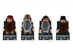 "Official License Duck Dynasty 13"" Talking Plush Toy Jase (1), Willie (2), Si (3), Phil (2) SET OF EIGHT (8)"
