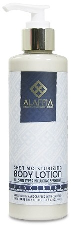 Alaffia Handcrafted Shea Butter Moisturizing Lotion, 8oz. Unscented