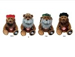 "Wholesale Official License Duck Dynasty 8"" Talking Bear Plush Character Assortment Jase, Willie, Si, Phil Robertson 1/6CT"