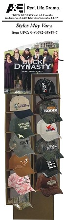 Wholesale Duck Dynasty caps. 36ct assorted cap display w/ header - Wholesale
