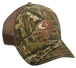 Wholesale Mossy Oak camo front, mesh back Cap Infinity/Brown 1/12ct