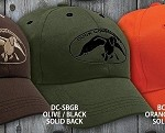 Duck Commander Cap Solid Olive Green/Black logo