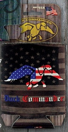 Duck Commander Can coozie, Flag with Flag Duck logo