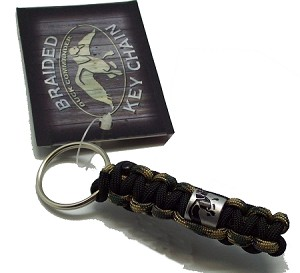 Duck Commander Braided Key Chain/duck band, camo
