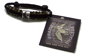 Duck Commander CAMO braided survival bracelet w/ Duck Band