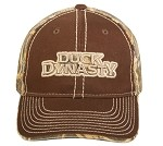 Wholesale DUCK DYNASTY CAP BROWN FRONT VISOR REALTREE MAX-4