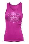 'Your City or State' Custom REDNECK TANK TOP Hot Pink/Tonal Ladies 1/24CT
