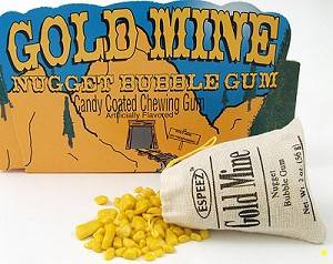 Wholesale Candy Gold Mine Nugget Bubble Gum in Miners Sack Display 24CT
