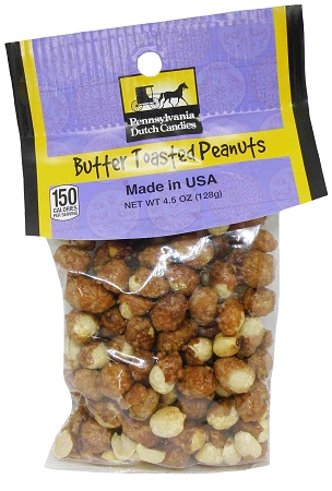 Old Fashioned BUTTER TOASTED PEANUTS 12/CT 4.5 oz. 12 Bags
