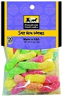 Old Fashioned SOUR NEON WORMS 4 oz Hanging Bag
