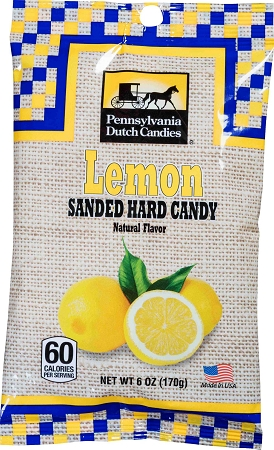Old Fashioned 6oz. Lemon Sanded Candy Drops 12/6oz Bags