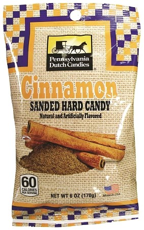Old Fashioned Sanded Candy (Cinnamon) Drops 6oz Bags 12ct box